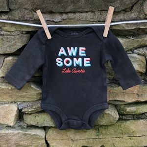 """Awesome like Auntie"" onesie"